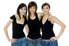 Meninas asiáticas Fotografia de Stock Royalty Free