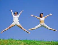 Meninas ativas Fotografia de Stock Royalty Free