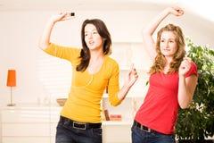 Meninas bonitas do adolescente do blonde e da testa Imagens de Stock