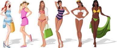 Meninas bonitas dos desenhos animados Fotografia de Stock Royalty Free