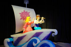 Meninas bonitas feitas pelo gelo Imagem de Stock Royalty Free