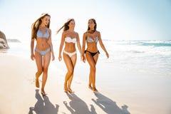 Meninas bonitas na praia Foto de Stock