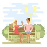 Meninas bonitas no verão ilustração stock