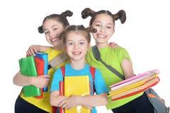 Meninas bonitos com livro Fotos de Stock Royalty Free