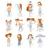 Meninas bonitos sob a forma dos sinais do zodíaco Fotografia de Stock Royalty Free