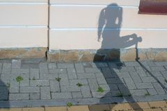 Meninas cinzentas da sombra com tranças imagens de stock