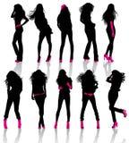 Meninas com acessórios Imagens de Stock Royalty Free