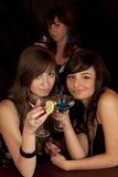 Meninas com coctail Imagem de Stock