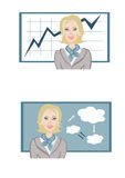 Meninas com diagramas Fotos de Stock