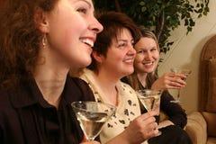 Meninas com martini imagens de stock