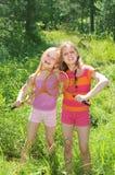 Meninas desportivas ativas Fotos de Stock