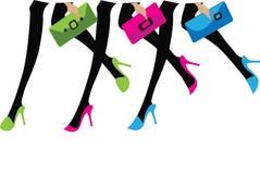Meninas com sacos Fotos de Stock Royalty Free