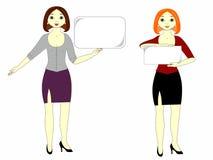 Meninas com um sinal Imagens de Stock Royalty Free