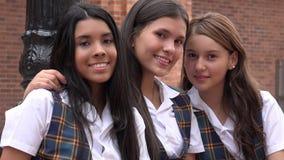 Meninas consideravelmente adolescentes diversas Fotografia de Stock Royalty Free