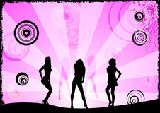 Meninas cor-de-rosa Fotos de Stock