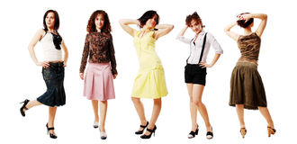Meninas da forma Foto de Stock Royalty Free