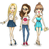 Meninas da forma Fotos de Stock Royalty Free