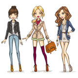 Meninas da forma Fotografia de Stock Royalty Free