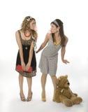 Meninas da goma de bolha Imagem de Stock Royalty Free
