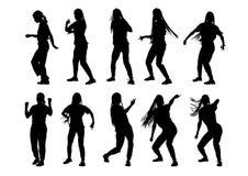 Meninas dansing bonitas Imagem de Stock
