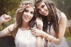Meninas de Boho Fotos de Stock Royalty Free