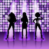 Meninas de canto estilo do disco Imagem de Stock