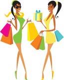 Meninas de compra Foto de Stock Royalty Free