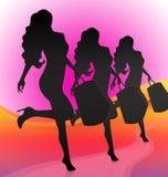 Meninas de compra Fotografia de Stock Royalty Free