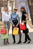 Meninas de compra Foto de Stock