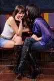Meninas de conversa Imagens de Stock Royalty Free