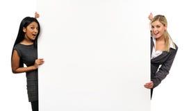 Meninas de Copyspace Fotografia de Stock Royalty Free