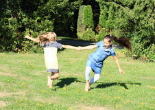 Meninas de dança Fotografia de Stock Royalty Free