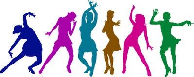 Meninas de dança ilustração royalty free