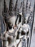 Meninas de dança de Apsara, Cambodia Foto de Stock Royalty Free