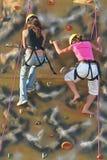 Meninas de escalada Imagem de Stock Royalty Free