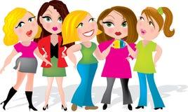 Meninas de escritório ilustração stock