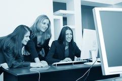 Meninas de escritório Imagens de Stock Royalty Free