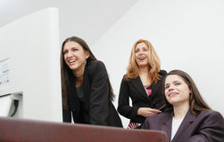 Meninas de escritório imagem de stock
