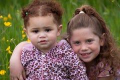 Meninas de flor fotografia de stock royalty free