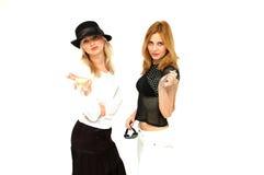 Meninas de Glam Imagem de Stock Royalty Free