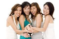 Meninas de partido fotografia de stock