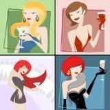 Meninas de partido Imagem de Stock