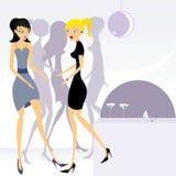 Meninas de partido 3 ilustração royalty free
