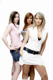 Meninas de partido bonitas Fotografia de Stock
