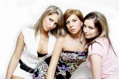 Meninas de partido bonitas Fotos de Stock Royalty Free