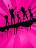 Meninas de partido de Grunge Fotografia de Stock