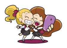 Meninas de Selfie imagens de stock