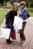 Meninas de sorriso fotografia de stock royalty free