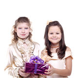 Meninas de sorriso Imagem de Stock Royalty Free