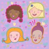 Meninas de sorriso Fotografia de Stock